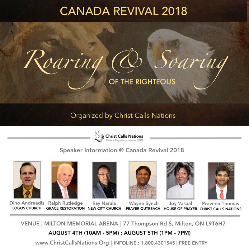 "Canada Revival 2018 - ""Roaring & Soaring of the Righteous"""